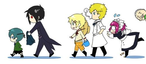 Black Butler- The Servants and Their Master Chibis  Tumblr