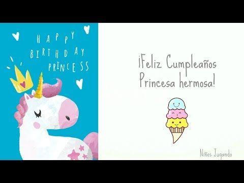 Feliz cumpleanos nina unicornio