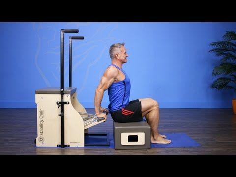 Beginner Pilates Chair Workout - YouTube