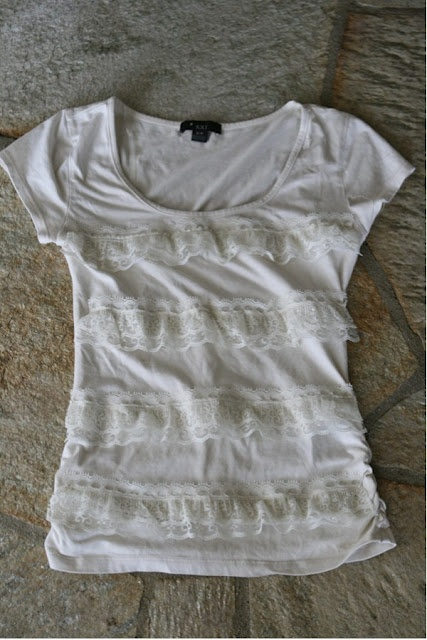 Welcome to the gOOd life: J.Crew lace stripe tissue tee