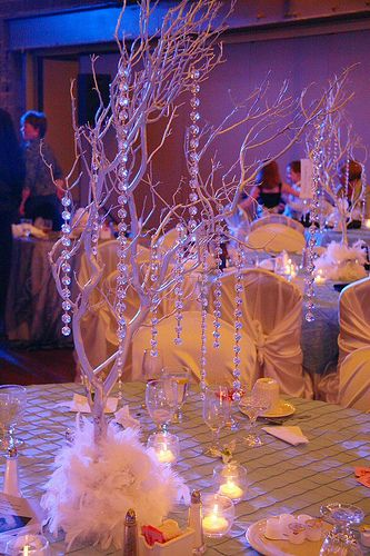109 best wedding centerpieces images on pinterest wedding very modern centerpiece a very simple diyms branches silver junglespirit Choice Image