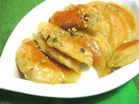 (10) Qataef Гатаиф арабские сладости с начинкой - YouTube