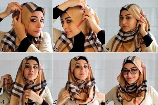 Hijab with Glasses Look