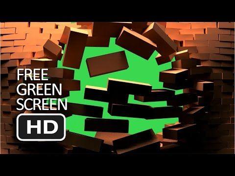 Free Green Screen - Ruin Front Brick Transition