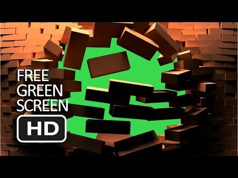 Free Green Screen - Ruin Front Brick Transition