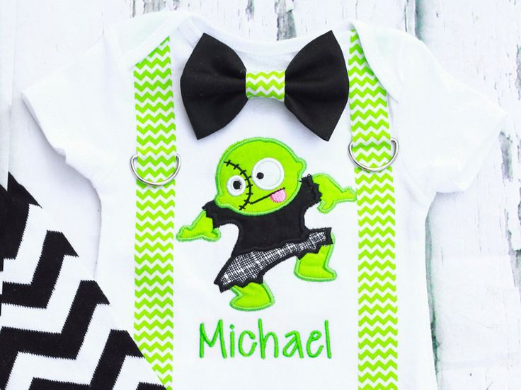 Baby Boy Halloween Outfit, Monster Mash Frankenstein boy outfit  suspenders set, Matching Leg Warmers Halloween Baby Boy outfit, My 1st by LoveAndLollipopsBaby on Etsy https://www.etsy.com/listing/248177840/baby-boy-halloween-outfit-monster-mash