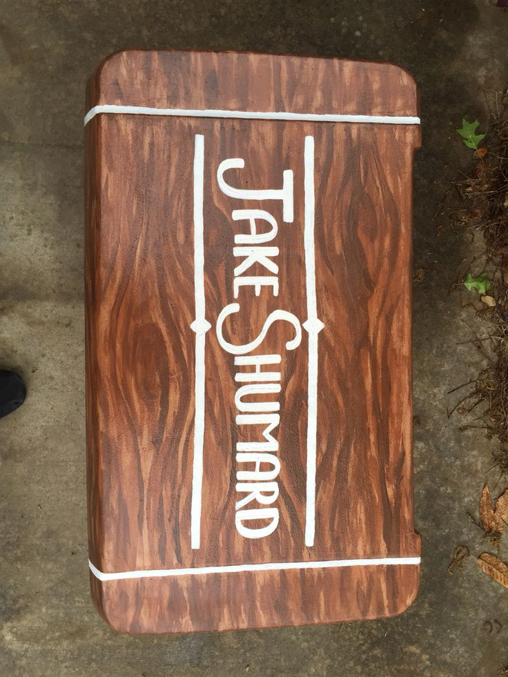 Wood Grain Painted Fraternity Cooler