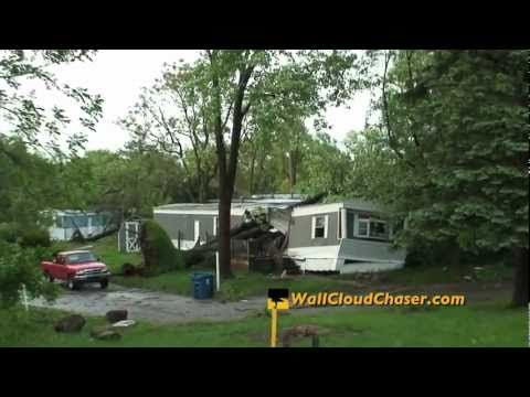 Extreme Severe Damage from Tornado-Warned Derecho Storm ~ Battle Creek, MI ~ May 29. 2011 - YouTube