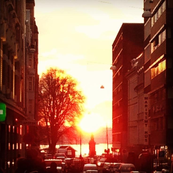 Oslo sunset