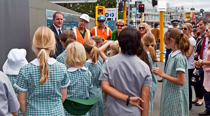 Addressing students at the NGA Billboard unveiling - 2012