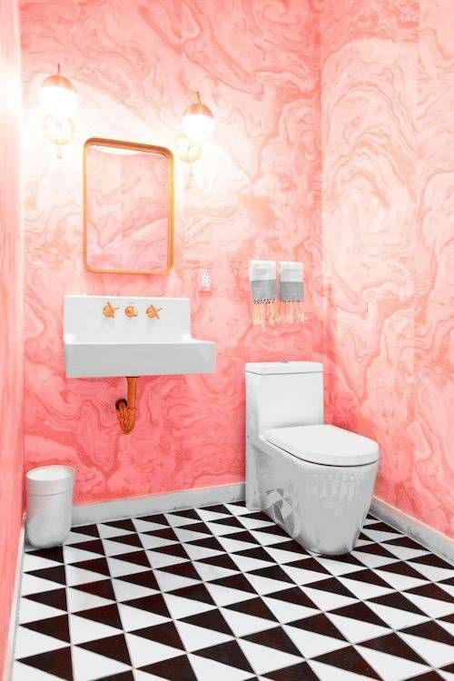 25 best ideas about pink marble wallpaper on pinterest for Stone bathroom wallpaper