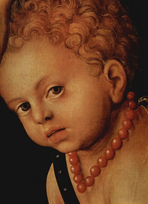 Cranach the Elder, Lucas. Venus and Cupid, detail: head of Cupid, 1509