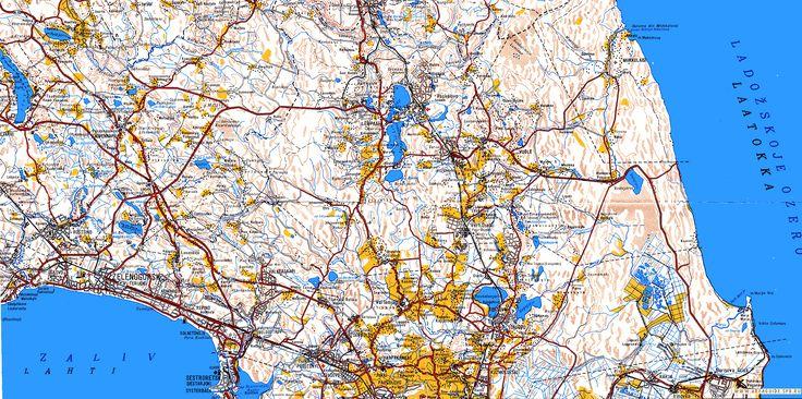 Финская карта Карельского перешейка.