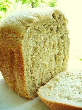 ❍HBでとっても濃いもちもちバナナパン❍ [Banana Yeast Bread] // 250g bread flour, 30g sugar, 3g salt, 30g butter, 2 bananas, 210g milk (together with banana), 3g dry yeast