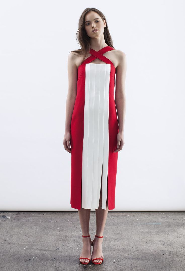 Double Crepe Astrid Dress