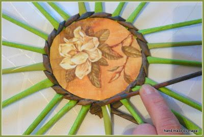 Hand made by Maggii: 5. Jak zrobić filiżankę z papierowej wikliny - etap: spodek