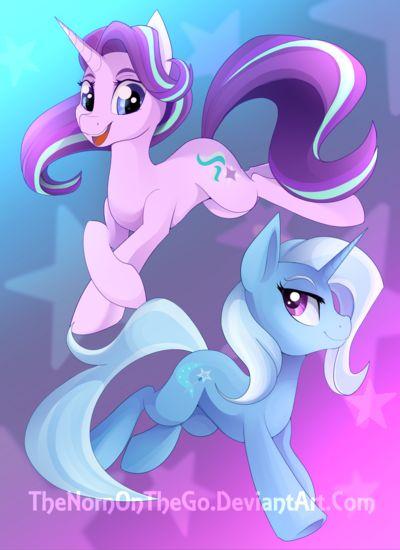 #1170650 - artist:thenornonthego, duo, safe, starlight glimmer, trixie - Derpibooru - My Little Pony: Friendship is Magic Imageboard