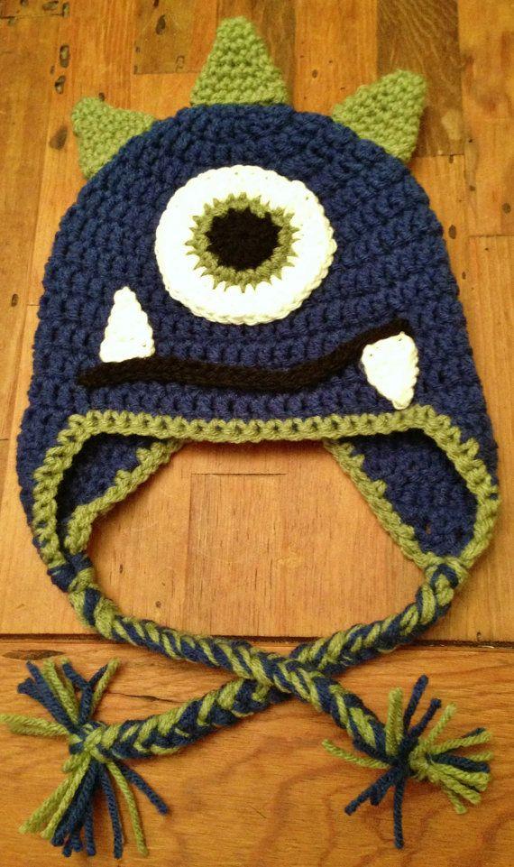 Little Monster Crochet Hat by StormyDayCrochet on Etsy
