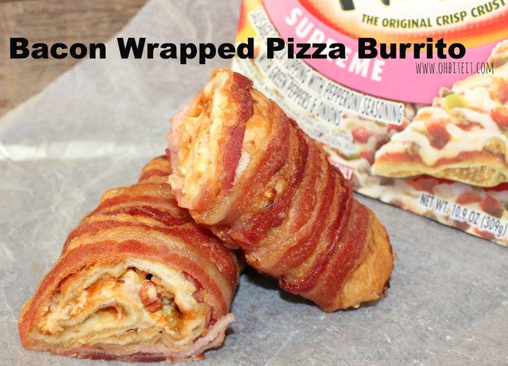 ~Bacon Wrapped Pizza Burrito!