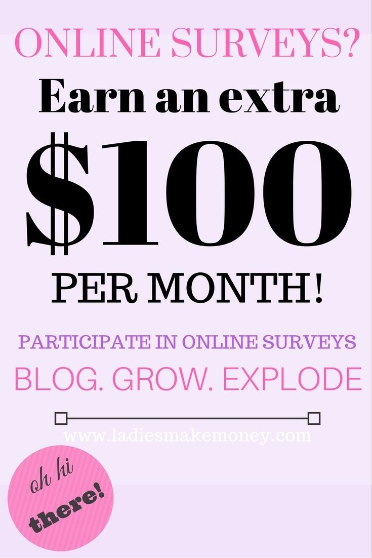 Earn Money From Home Make money with your blog. Learn how to make an extra $100.00 with your blog using online surveys. Get more information on the blog. You may have signed up to take paid surveys in the past and didn't make any money because you didn't know the correct way to get started!