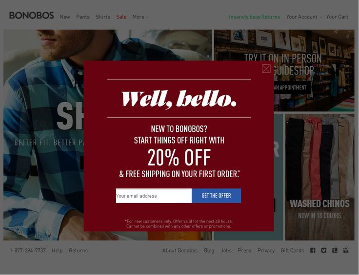 Best Modal Popup Examples For Email Marketing Images On