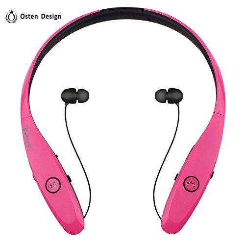 Special Offers - Bluetooth Headphone Osten Design Wireless Headset with Mic Stereo Neckband Noise Cancelling Headset Hand-free Sports Earphone Retractable Earbuds for Iphone and Other Bluetooth Devices (900S Red) - In stock & Free Shipping. You can save more money! Check It (April 28 2016 at 05:11AM)…