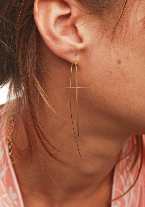 String-through earrings. I have a pair of these, and I'm officially addicted.