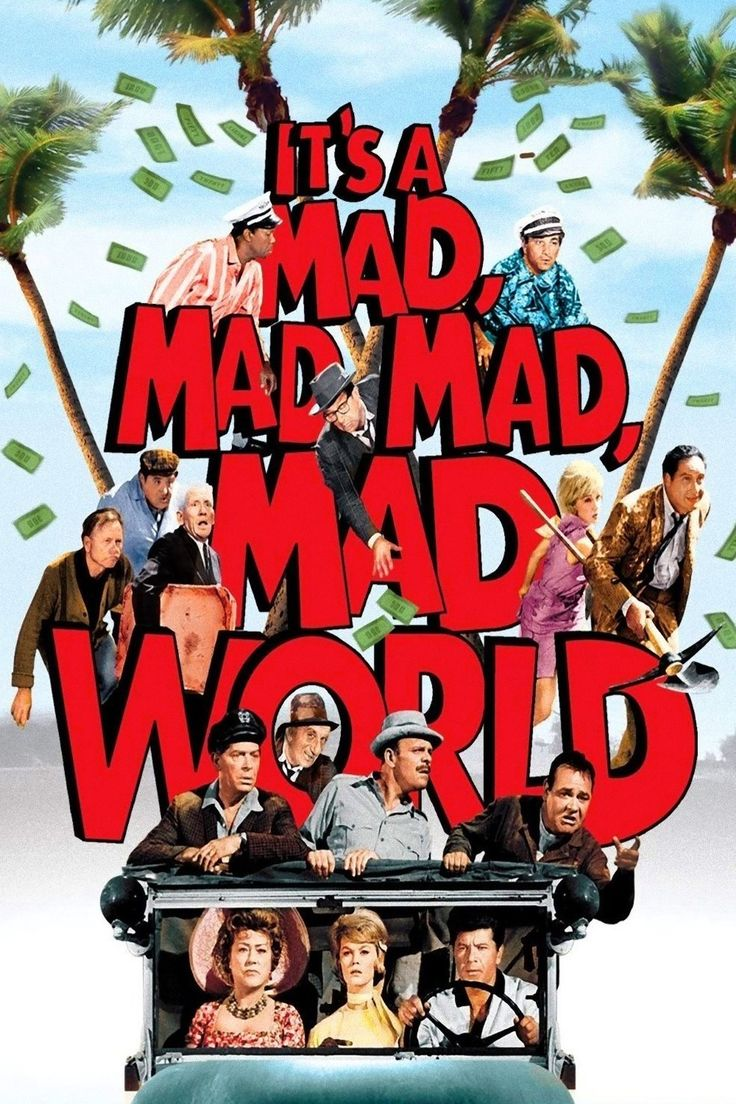 It's a Mad, Mad, Mad, Mad World (1963) - one of my all time favorite movies!  When I was a kid they played this in the theater and I nearly choked to death on my licorice !