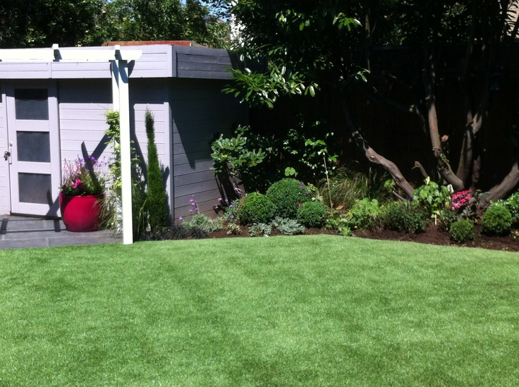 Artificial lawns provide hard wearing play areas