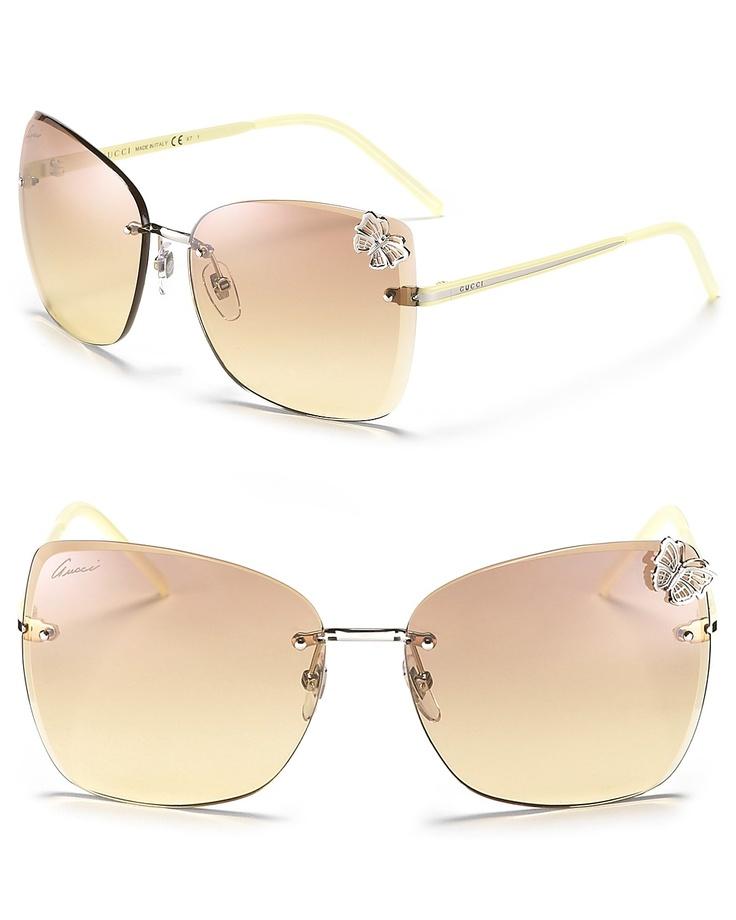 72a1f896986 Gucci Oversized Rimless Shield Sunglasses