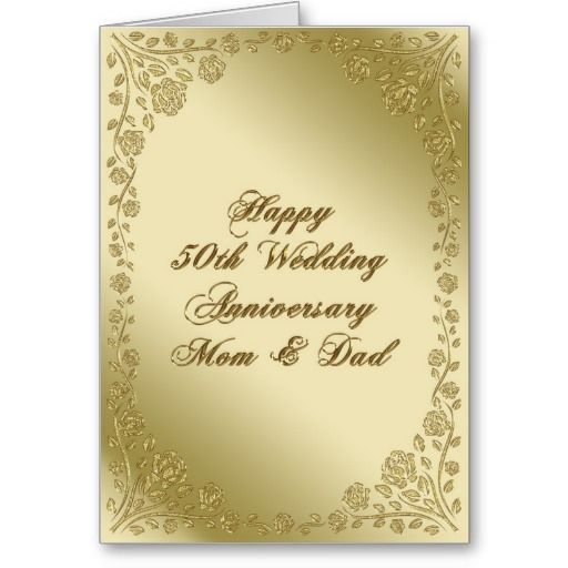 1000 Images About 50Th Wedding Anniversary Cards On Pinterest