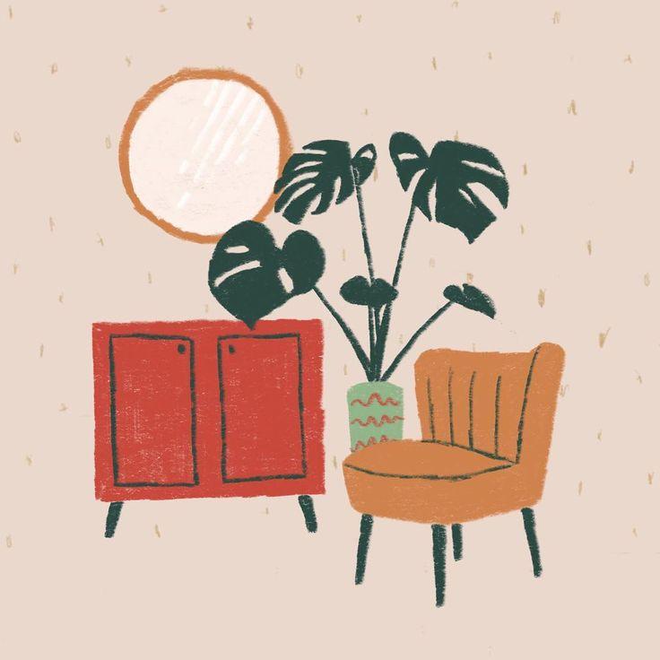 "43 Likes, 2 Comments - Beth (@_bethanyleah) on Instagram: ""furniture #illustrator #illlustratorsofinstagram #illustrationoftheday #instaart #digitalart…"""
