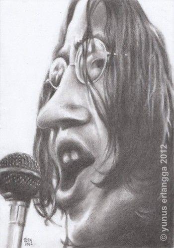 John Lennon | charcoal on paper | joen yunus 2012