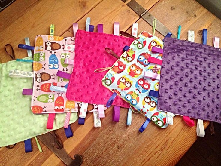 Handmade crinkle taggy blankets by SewFab3 on Etsy