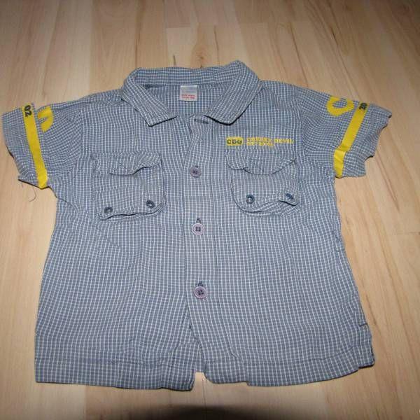 Bavlněná modrá károvaná košile vel. 86 z bazaru