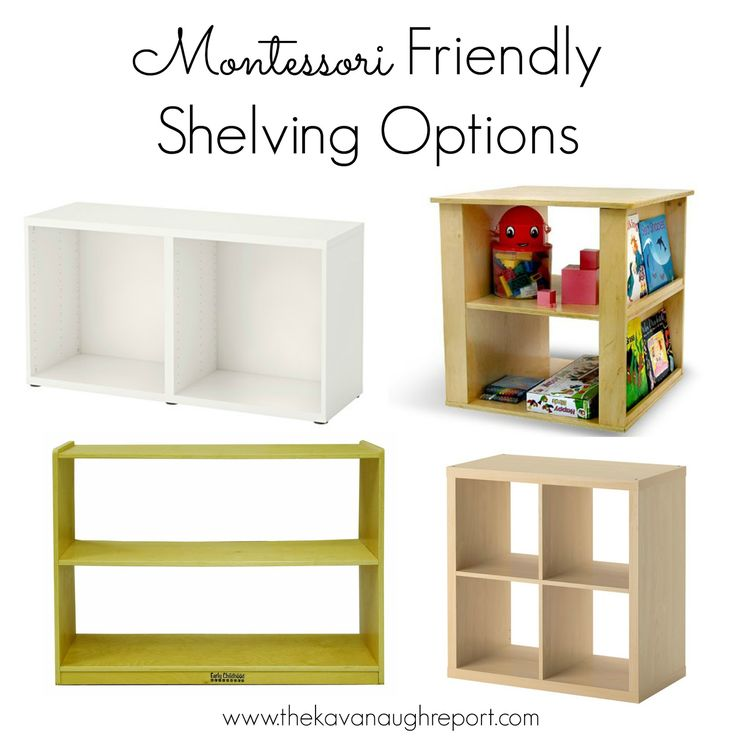 Lovely Montessori Friendly Shelving    Some Options Ideas