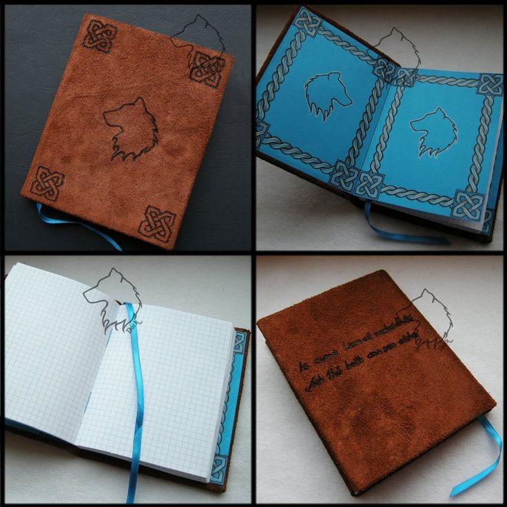 Wolfbook - handmade notebook by Dark-Lioncourt.deviantart.com on @DeviantArt