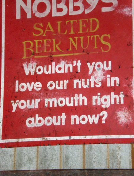 Roasted Peanuts Funny Advertisement - Nibble Nobby's Nuts!