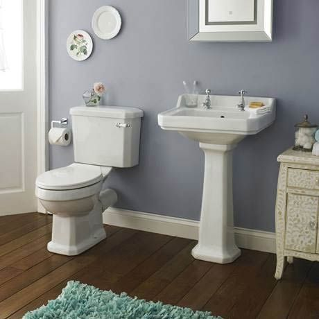 Premier Carlton Traditional Basin with Pedestal (2 Tap Hole - Various Sizes) Profile Image
