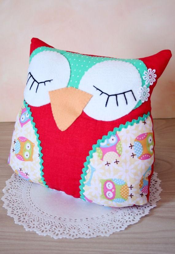 Como hacer un almohadon con forma de buho - Imagui