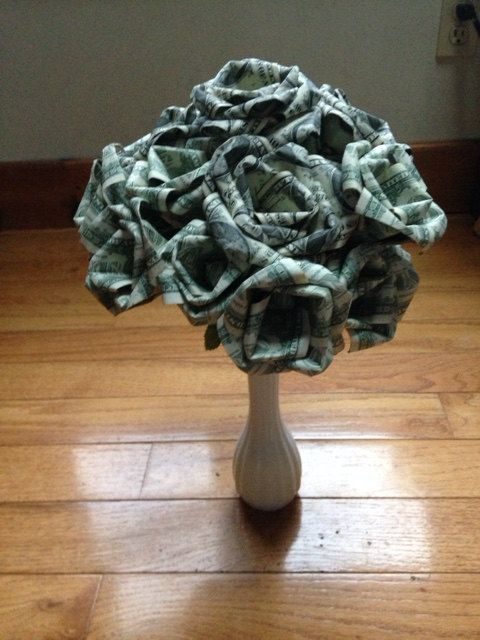 12 Money Roses Made with real dollar bills by JVCountryCreations