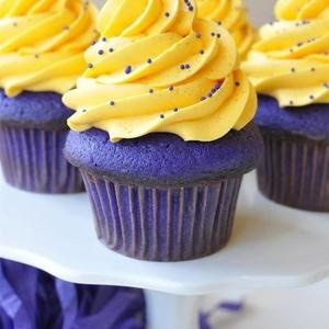 You are what you eat: Purple and Gold!! @Louisiana State University #dessert #LSU
