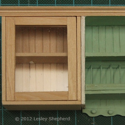 make glass front upper kitchen cabinets for dollhouse build unfinished furniture printable