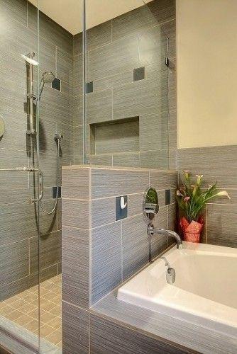 Small shower looks much bigger with the glass wall !, #shower #glaswand #klei … – Kuche Einrichten