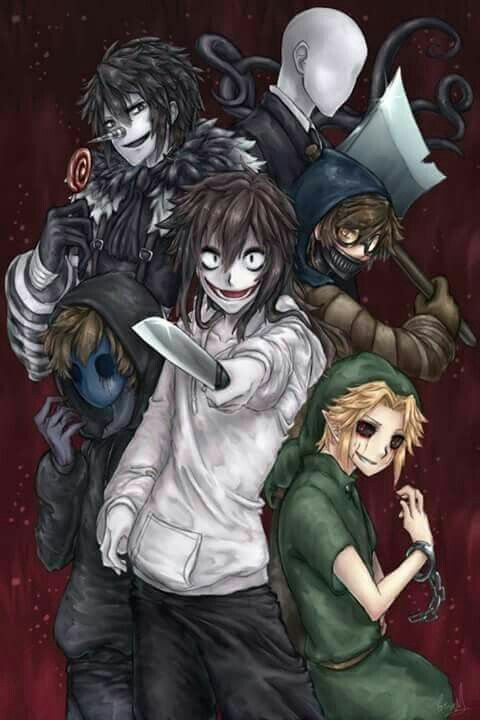 Ticci Toby, Jeff The Killer, Slenderman, Ben Drowned, Laughing Jack, and Eyeless Jack!