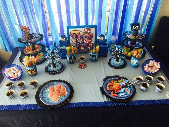 Video Games Birthday Party Decoration Megaman Birthday