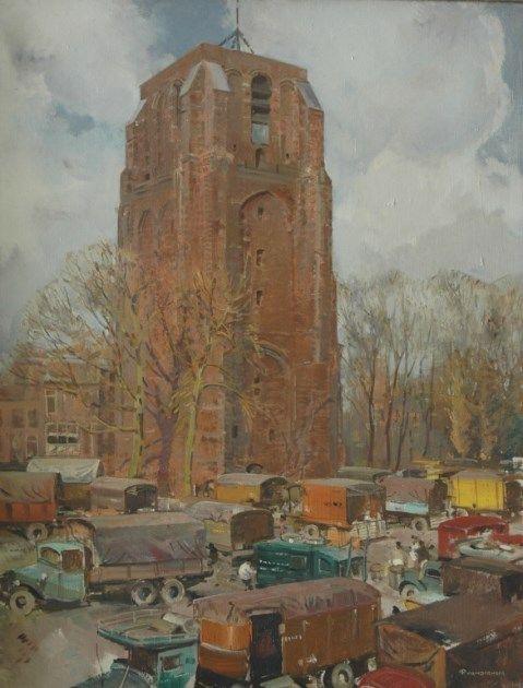 Pieter 'Piet' van der Hem (Wirdum 1885-1961 Den Haag) The Oldehove church in Leeuwarden - Dutch Art Gallery Simonis and Buunk Ede, Netherlands.
