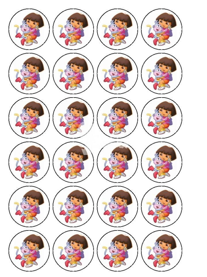 dora cupcake toppers - Google Search