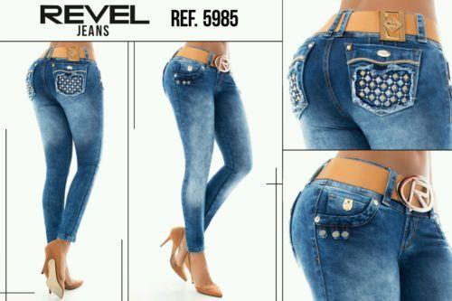 Women Revel pantalon levanta cola butt lift  jeans push up colombian size 5usa