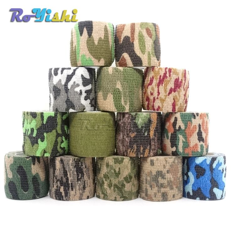 1 Roll U Pick 4.5m*5cm Waterproof Outdoor Camo Hiking Camping Hunting Camouflage Stealth Tape Wraps //Price: $1.30 & FREE Shipping //     #hashtag1